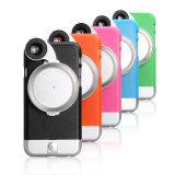 4 coloridos en 1 caso de la parte posterior de la lente de cámara para Smartphone