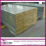 75mm/100mm/200mm PPGI Fireproof Insulation Rock Wool Sandwich Panel