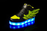 Boy Girl Sneakers USB Charging Flashing LED Luminous Shoes