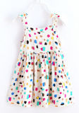 子供の衣服(SQD-101-RED)のかわいい花の子供の女の子の服