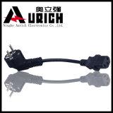 Тип вставка Турции комплекта шнура Pin аттестации 3 VDE силового кабеля верхний штепсельной вилки
