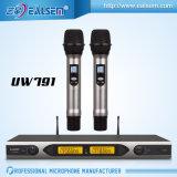 Freqüência ultraelevada do profissional de Easlem Uw791 microfone do rádio de 200 Multi-Canaletas da freqüência