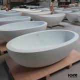 Mejor Calidad de casting Solid Surface Matt Negro bañera independiente