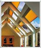 Schattierung oder Partition mit den motorisierten Bienenwabe-Vorhängen aufgebaut in Isolierglas