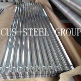 A placa de aço galvanizada dura cheia do ferro/corrugou a folha da telhadura do metal