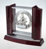 Классицистические деревянные часы таблицы каминной доски с механически движениями