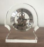 Reloj de cristal M-5076 del reloj cristalino del escritorio de la alta calidad