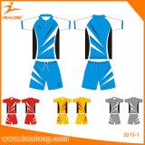 Healong Zoll personifizierte Badminton-Uniformen des Drucken-3D mit Qualitäts-Sport-Abnützung
