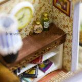 Bestes Geschenk mini hölzernes Haus-der Miniszenen-Kinder des Spielzeug-DIY