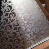 Le miroir en gros de couleur a repéré le métal décoratif de plaque de feuille d'acier inoxydable