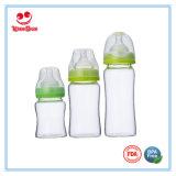 Frascos de bebê elevados do vidro de Borosilicate da garganta larga transparente