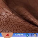 O teste padrão de couro do crocodilo dos importadores gravou o couro do PVC da base do sofá da bolsa/tampa das mulheres de couro do PVC da carteira