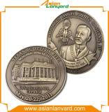 Подгонянная монетка возможности золота металла