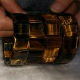 Brazaletes moldeados de la joyería de la pulsera del ojo cristalino natural del tigre