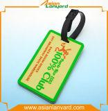 Étiquette chaude de bagage de PVC de vente de mode