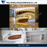 Scrittorio di ricezione di pietra artificiale della mobilia del salone di bellezza da vendere