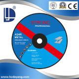 Roues de coupe centrale déprimées abrasives standard 42c-180 * 3 * 22
