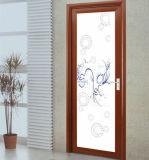 Portes en aluminium de toilette intérieure simple de bonne qualité d'oscillation (SC-AAD036)