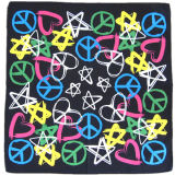 OEM Produce Cheap Customized Design Logo imprimé Cotton Head Wrap Bandanna