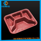 プラスチックケースの食糧皿を包むPVC