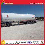 du propane 25tons liquide de Butanetransport de réservoir de LPG de camion-citerne aspirateur remorque semi avec le volume personnalisé