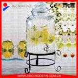 زجاجيّة طعام مرطبان شراب موزّع عصير مرطبان مع زجاجيّة غطاء ومعدن من
