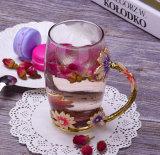 Bella tazza di vetro bevente dello smalto per il commercio all'ingrosso