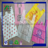 T-shirt de plástico Vest Shopping Bag with Printing