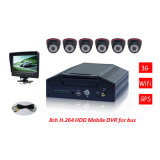 3G Mobile Surveillance 8CH Stand Alone Car DVR com monitor de carro de 7 polegadas