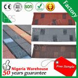 قوانغتشو تصنيع خفيفة الوزن مواد البناء اللون المموج حجر المغلفة ورقة تسقيف