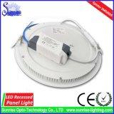 둥근 중단된 24W LED 천장판 전등 설비