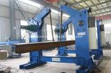 Viga de acero del perfil que vuelca la máquina con el mecanismo impulsor de cadena del motor
