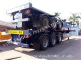 Tri Axle Container Frame Trailer für Truck