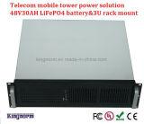 Batería de litio móvil Telecom de la potencia 48V 30ah del mantenimiento libre