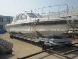 Barco de polícia da venda 40FT da fábrica feito da fibra de vidro
