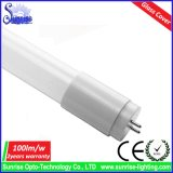 Alto 100lm/W tubo brillante de la cubierta de cristal los 0.6m T8 9W LED