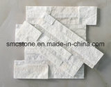 18*35cm 중국 자연적인 백색 규암에 의하여 겹쳐 쌓이는 문화 돌