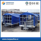 Tampa azul do caminhão do preço de China encerado impermeável revestido do PVC da boa
