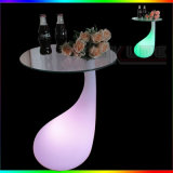 Outdoor LED Lighted Glass Table com 16 cores mudadas