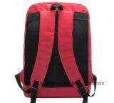 Delicado vermelho saco para trás acolchoado do computador de negócio 600d