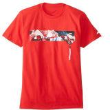 Korte Hals 100% van de Bemanning van de Koker Katoenen T-shirt