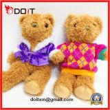 Urso macio da peluche do brinquedo feito sob encomenda do luxuoso com camisola