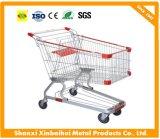 Charette à bras de chariot de supermarché de chariot à achats avec les roues élevées de Quility