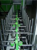 Perfil de madeira que envolve a máquina da imprensa do rolo do PVC e do folheado