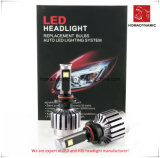 Farol do diodo emissor de luz para a luz 9007 do carro com os ventiladores para o auto farol