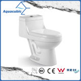 Toilette en céramique de cabinet monopièce de lavage à grande eau de salle de bains (AT7299)