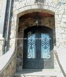 Intérieur décoratif Entrée de fer Porte Design Bronze foncé