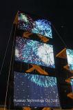 La visione flessibile mobile del LED muore, il DJ, giro di musica ed evento