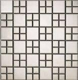 Het zilveren Mozaïek van het Glas van het Metaal voor de Tegel van de Vloer