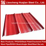Placa de material para techos de acero revestida sumergida caliente del cinc con el acero galvanizado acanalado